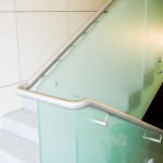 balustrada de sticla matuita prin sablare