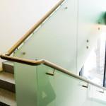 balustrada sticla sablata