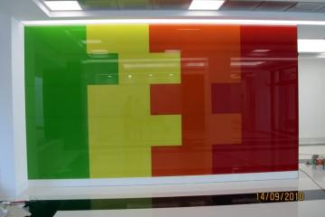 aranjament sticla colorata