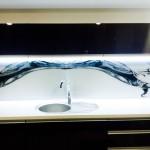 perete sticla printata