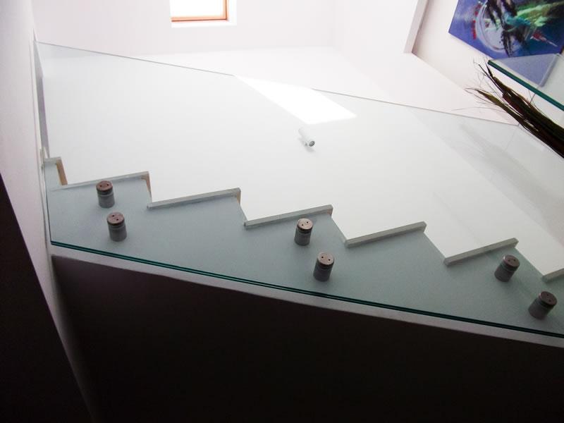 balustrada sticla dubla fixare in puncte